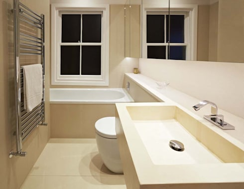 Parliament Hill Interior Design, Hampstead, London: scandinavian Bathroom by Residence Interior Design Ltd
