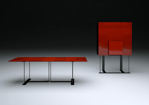 """""""6 A TAVOLA"""" design Italo Rota:  in stile  di MERITALIA"""