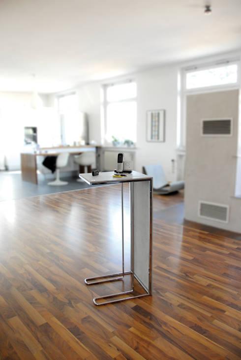 leichtbau side table leichte m bel aus beton von xxd. Black Bedroom Furniture Sets. Home Design Ideas
