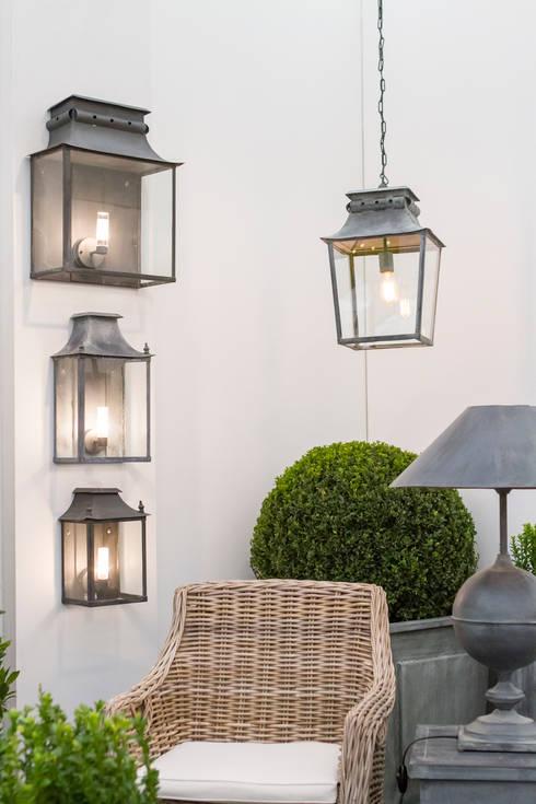 Zinc Coach Lamps & Hanging Lantern:  Garden  by A Place In The Garden Ltd.