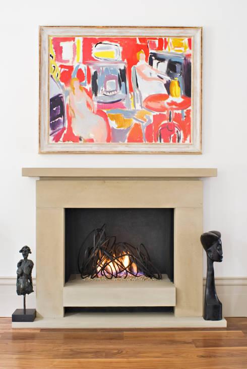 Loop Fire: modern Living room by BD Designs