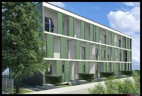 Edificio residenziale via Guardi Cinisello B.mo:  in stile  di Studio Guzzo & Partner