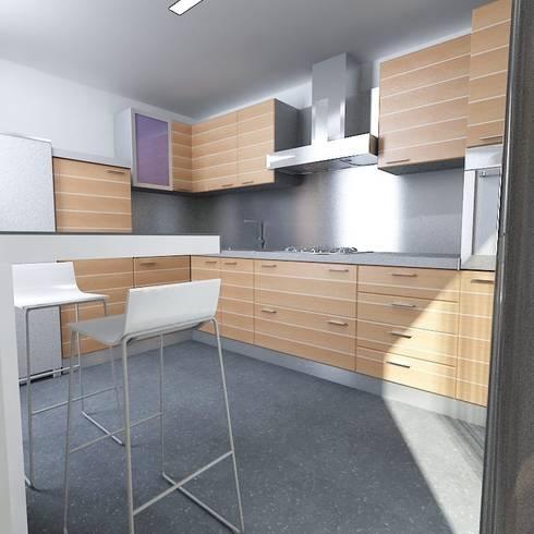 interior design of an apartment: Case in stile in stile Moderno di Pierfrancesco Arnone Studio
