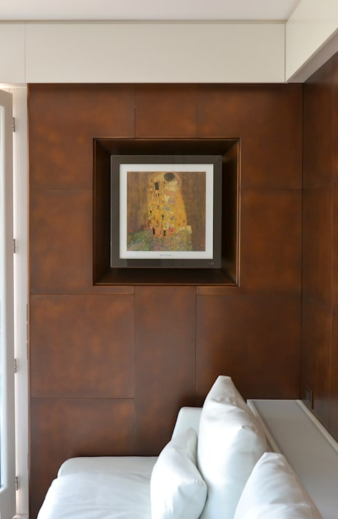 renovation of a living-room, Venice area (Italy): Soggiorno in stile  di Andrea Girotto Architetto