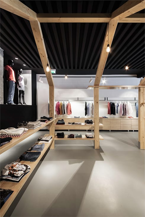 Café – Retail: Espacios comerciales de estilo  de Nan Arquitectos