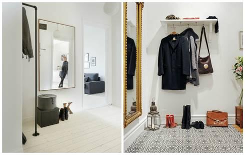 Alvhem Mäkleri & Interiör - hallway: scandinavian Living room by Magdalena Kosidlo