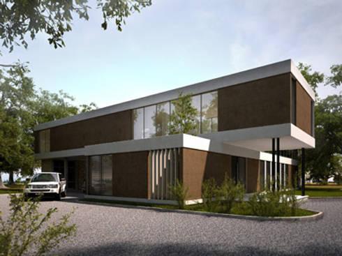 acceso: Casas de estilo moderno por nisen s.a.