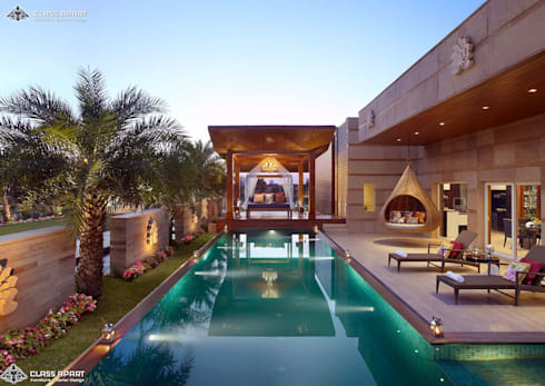 LUXURIOUS APARTMENT WITH PRIVATE POOL :   by CLASS APART (furniture.interiordesign)