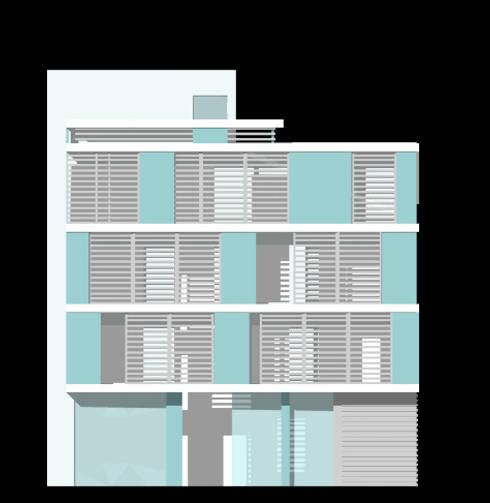 Residenza Sam: Terrazza in stile  di Laura Marini Architetto