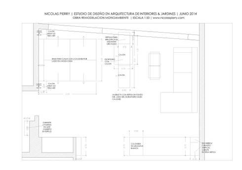 Remodelación Monoambiente:  de estilo  por Estudio Nicolas Pierry