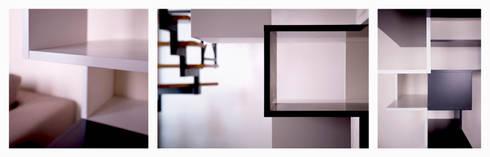 Twin Waves: dettagli: Ingresso, Corridoio & Scale in stile in stile Moderno di BRENSO Architecture & Design