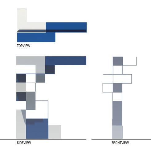 Pianta e prospetti: Ingresso, Corridoio & Scale in stile in stile Moderno di BRENSO Architecture & Design