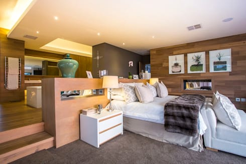 Albizia House: modern Bedroom by Metropole Architects - South Africa