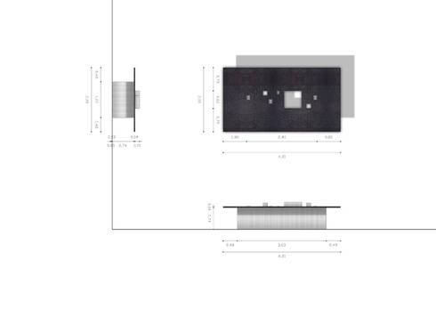 Pianta e prospetti: Studio in stile  di BRENSO Architecture & Design