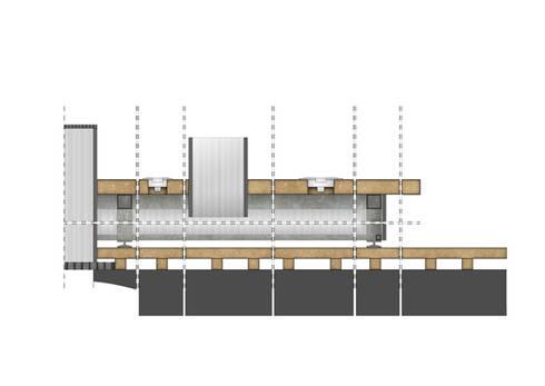 Sezione longitudinale: Studio in stile  di BRENSO Architecture & Design