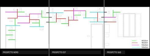 Schema di montaggio: Soggiorno in stile  di BRENSO Architecture & Design