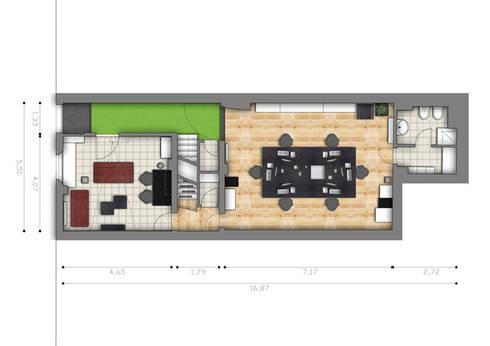 Pianta piano terra:  in stile  di BRENSO Architecture & Design