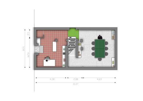 Pianta seminterrato:  in stile  di BRENSO Architecture & Design