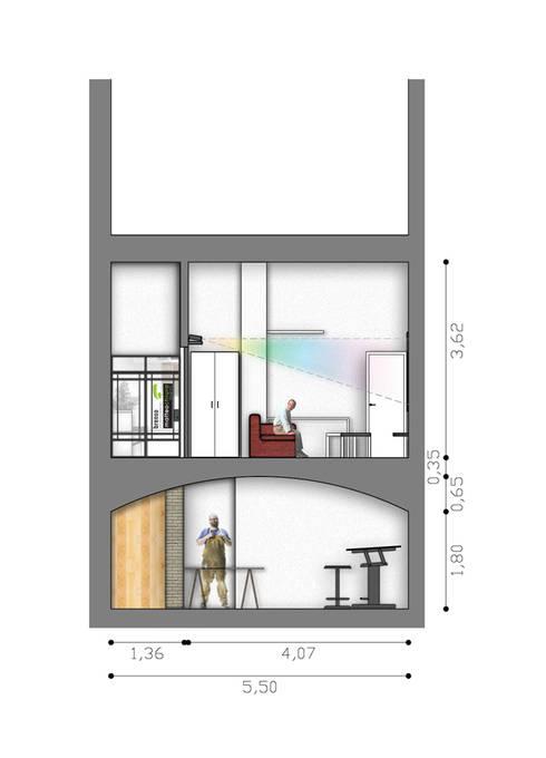 Sezione vano secondario:  in stile  di BRENSO Architecture & Design