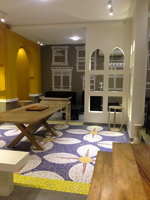showroom designs:  Office spaces & stores  by kalakshetra designs