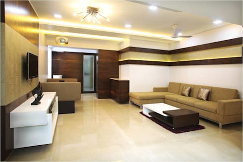 Living Room: modern Living room by Squaare Interior