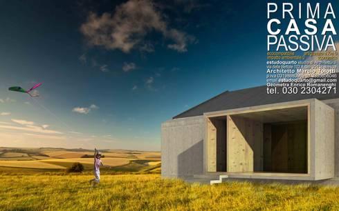 Prima Casa Passiva di estudoquarto: Case in stile in stile Minimalista di estudoquarto s.r.l.