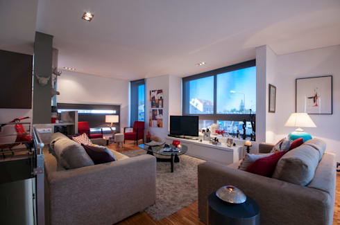 Vespa Mood: Salas de estar  por Ana Rita Soares- Design de Interiores