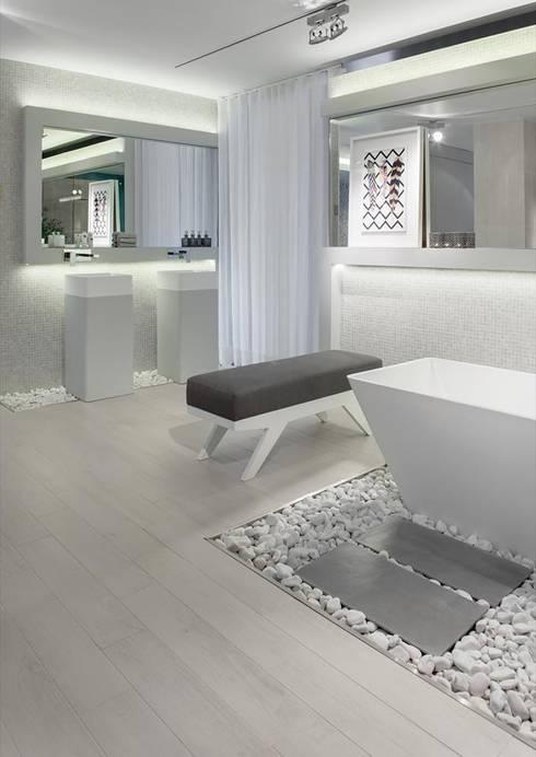 BE - Loft: Casas de banho ecléticas por Ana Rita Soares- Design de Interiores