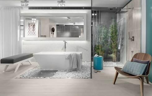 BE – Loft: Casas de banho ecléticas por Ana Rita Soares- Design de Interiores