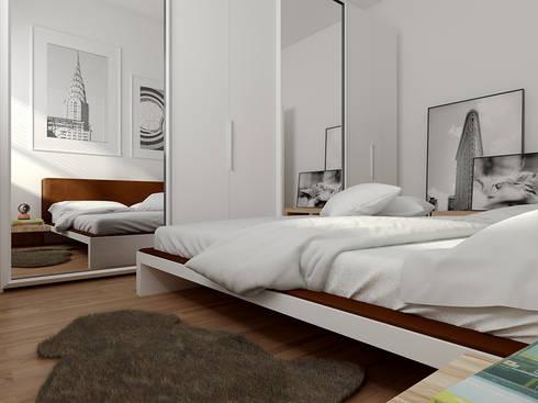 Zona notte: Case in stile in stile Moderno di CSP2 studio