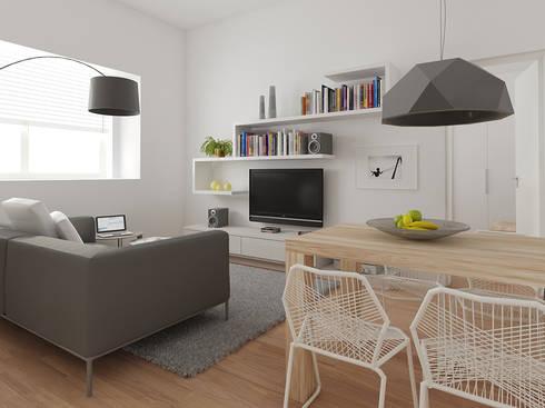Zona giorno: Case in stile in stile Moderno di CSP2 studio