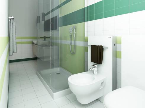 Bagno: Case in stile in stile Moderno di CSP2 studio