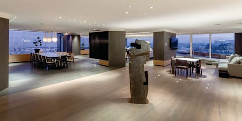 PH Diamante: Pasillos y recibidores de estilo  por ARCHETONIC / Jacobo Micha Mizrahi