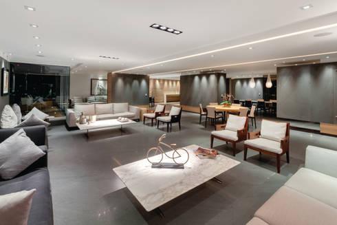 PH Diamante: Salas de estilo minimalista por ARCHETONIC / Jacobo Micha Mizrahi