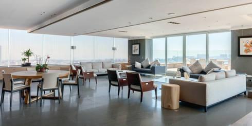 PH Diamante: Salas de estilo moderno por ARCHETONIC / Jacobo Micha Mizrahi