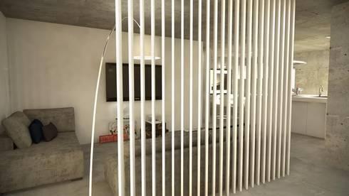 Open Space: Corredores e halls de entrada  por Santiago   Interior Design Studio