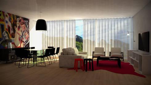 Portuguese House - Living Room: Casas ecléticas por Santiago | Interior Design Studio