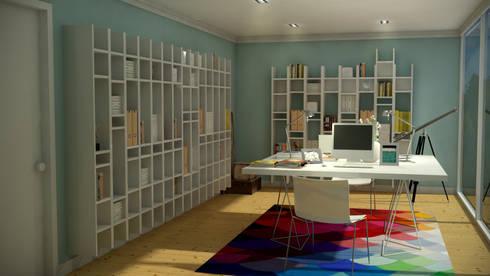 Portuguese House - Home Office: Casas ecléticas por Santiago | Interior Design Studio