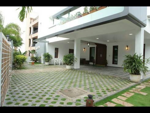 Residence at Filmnagar:   by Artifice Design Consultants