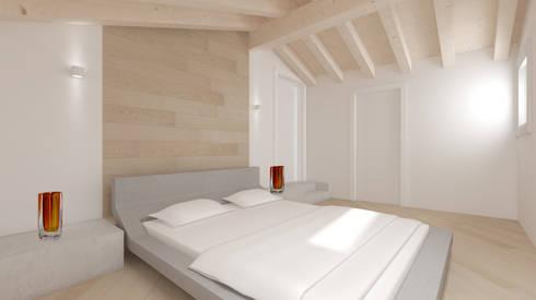 LAND HOUSE DESIGN DEL PAESAGGIO: Case in stile in stile Minimalista di One Farm Design