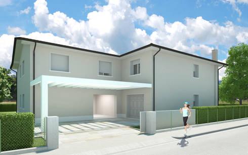 LINE HOUSE: Case in stile  di One Farm Design