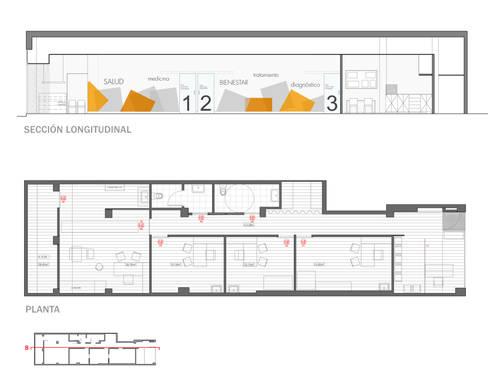 Alzado interior y planta: Clínicas de estilo  de interior03