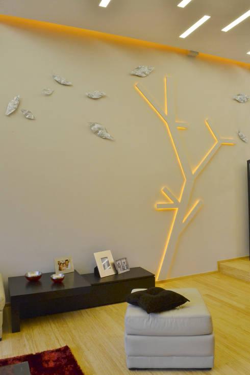 Living room by TAODESIGN  Taller de Ambientes y Objetos