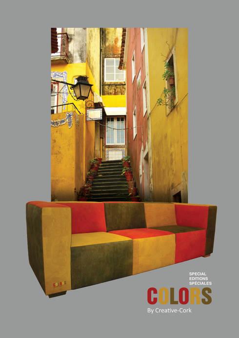 Colors by Creative-Cork: Sala de estar  por Creative-cork