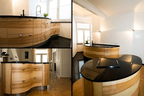 Designküche runde designküche by pfister möbelwerkstatt gdbr homify