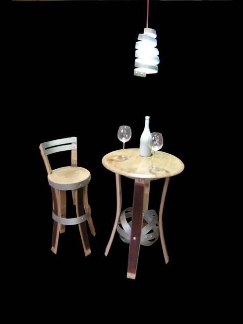 mobiiier cave à vins, mobilier bars à vins : Cave à vin de style  par  Douelledereve / Eco design construction
