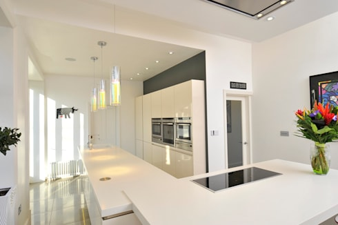 MR & MRS WHITESIDE'S KITCHEN: modern Kitchen by Diane Berry Kitchens