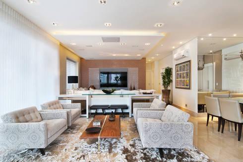 PROJETO IDENTIDADE BRASILEIRA - LIVING: Salas de estar modernas por Adriana Scartaris design e interiores
