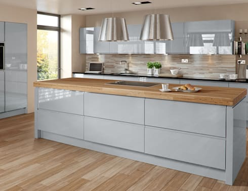 Handleless Kitchens Leicester: modern Kitchen by The Leicester Kitchen Co