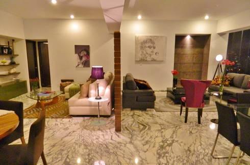 PHM 06: Salas de estilo moderno por NIVEL TRES ARQUITECTURA